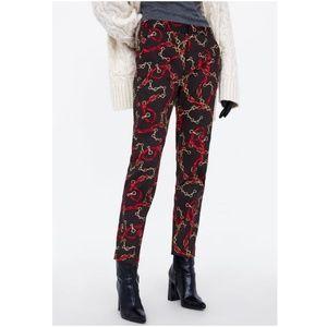 [LAST]NWT Zara Size XS Chain Print Cigarette Pants